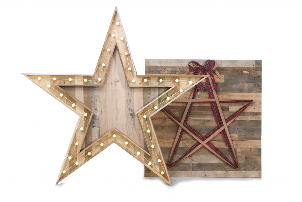Reclaimed Wood Star Collection