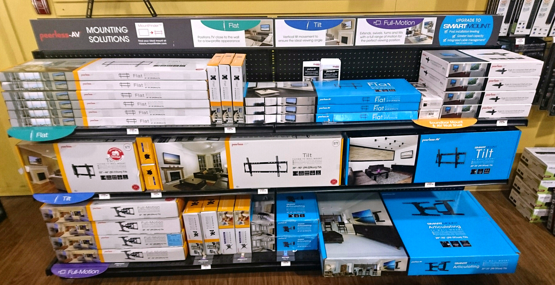 Peerless-AV ® Works with Visions Electronics to Create a Strong Retail & B 2 B Audio Visual Solutions Mix