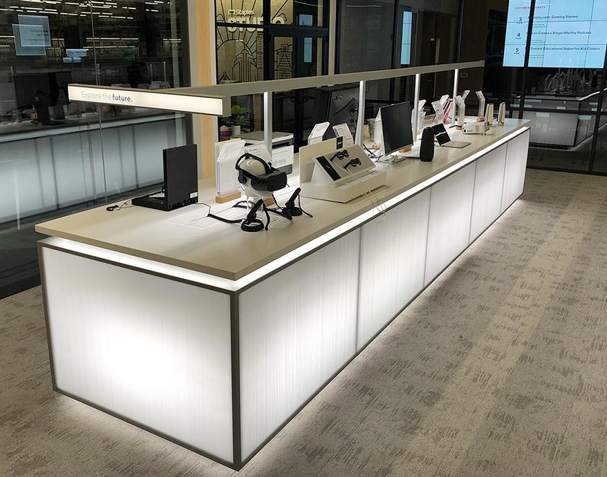 Visual Creations | Rose Displays' Custom Innovation Table