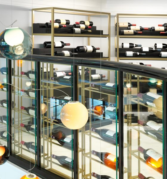 Lighting Strategy Adds Shine to 3-Level Fine Wine Boutique