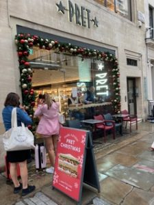 Christmas in July at Pret