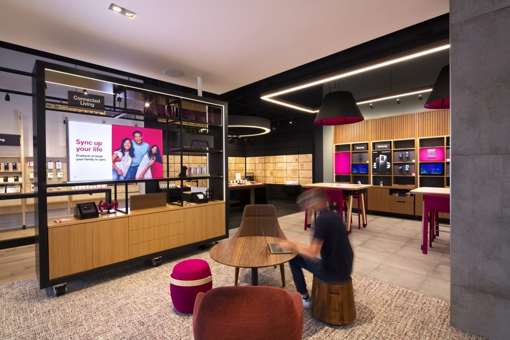 """2021 Retail Renovation Competition – First Place: """"T-Mobile Plano Store"""""""