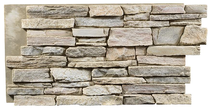 Texture Plus' Ledgestone Select Cream Frost Faux Wall Panels